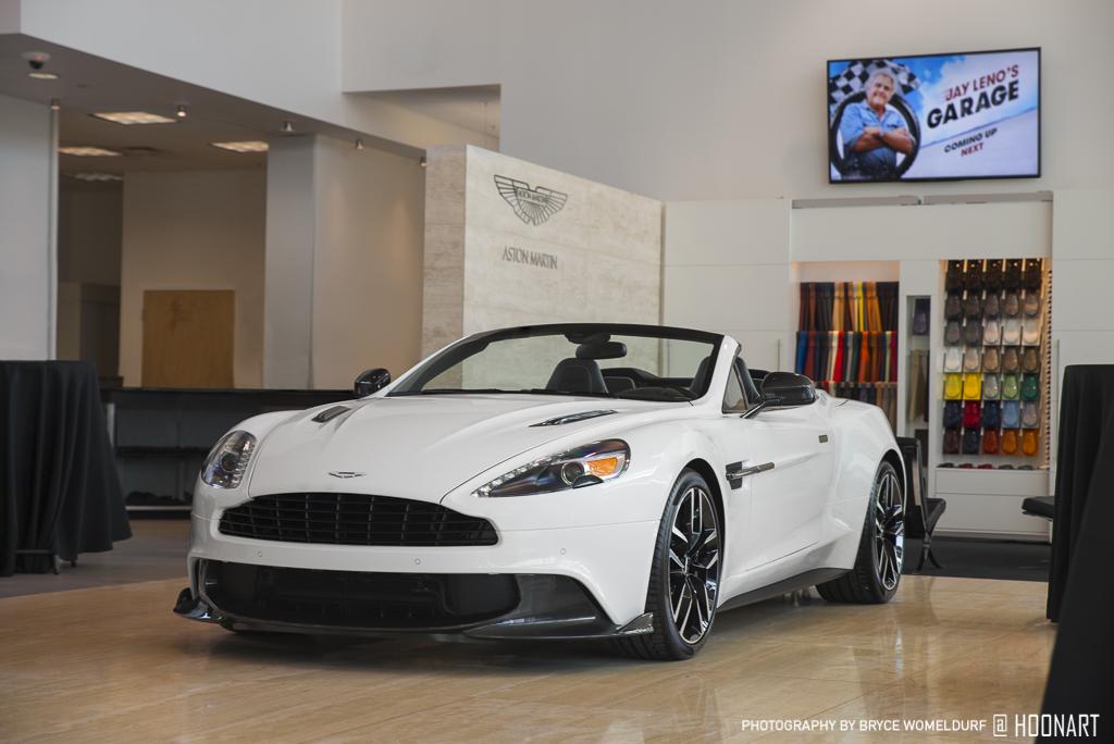 Aston-Martin Vanquish S Volante in the dealership showroom.