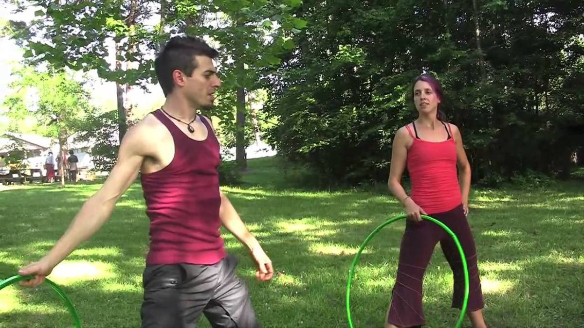 "Partner Hula Hoop Tricks: ""The Rising Sun"""