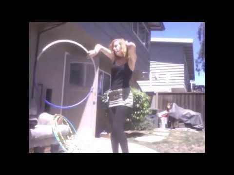 "Hula Hoop Tricks: ""One Handed Helicopters"""