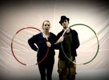 partner hula hoop trick
