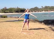 jo mondy hula hoop tricks