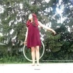 hula hoop tricks chest roll