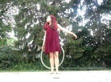 hula hoop tricks chest roll