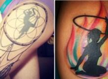 cool hula hooping tattoos