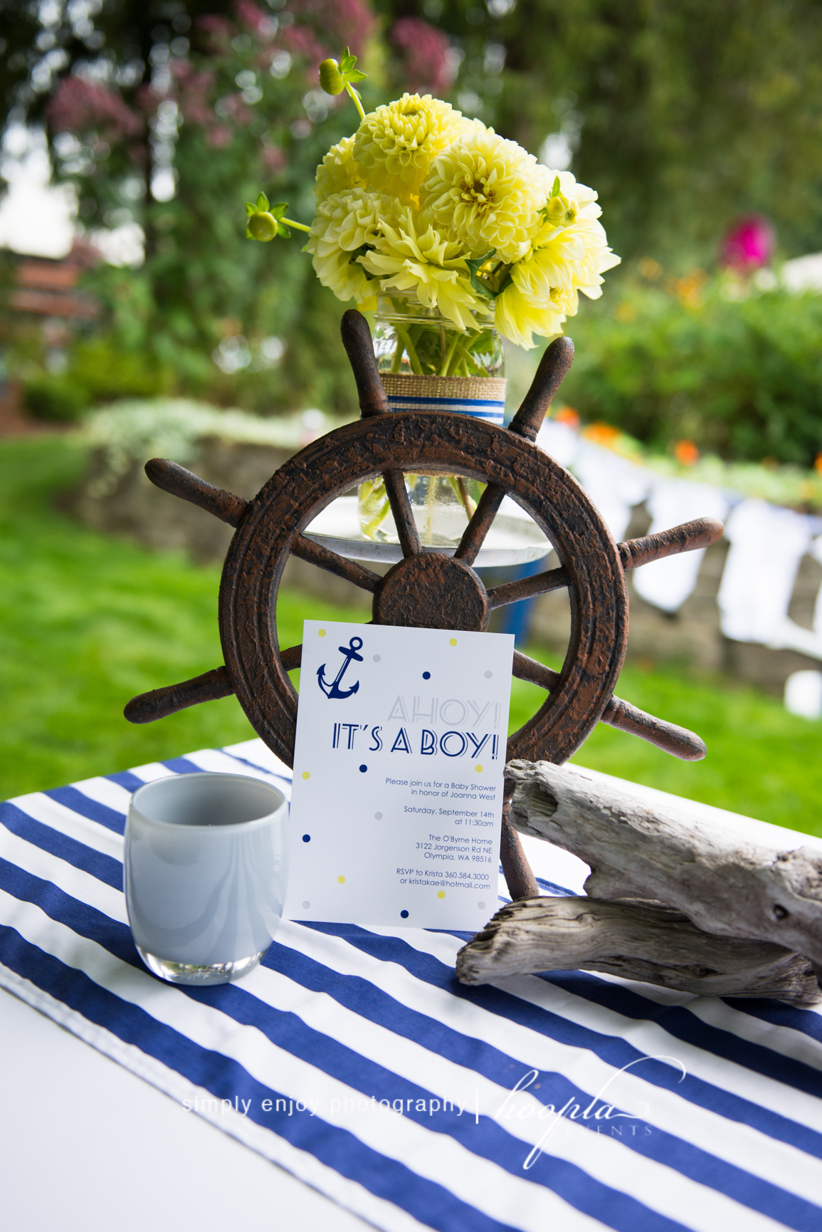 Nautical Theme Baby Shower  Hoopla Events  Krista OByrne