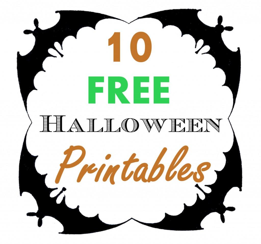Free Halloween Printables Roundup