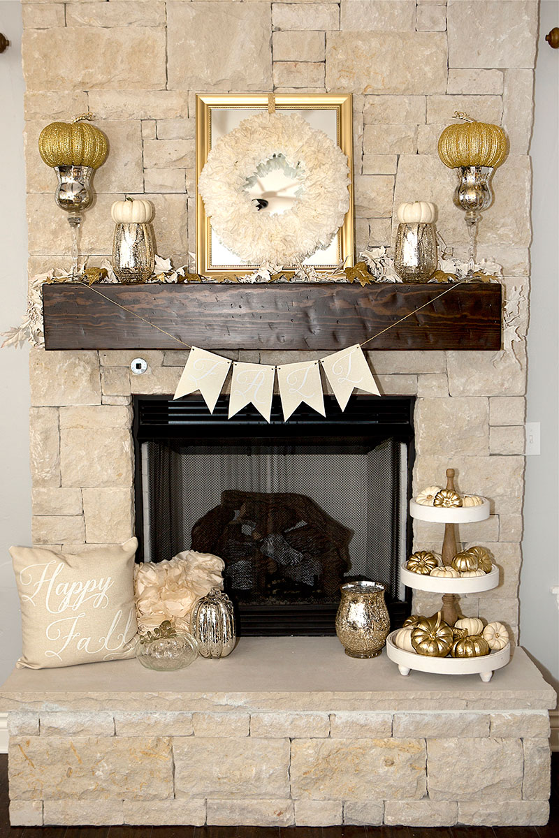 Fall Mantel Decorations 3 Ways  Hoopla Events  Krista OByrne