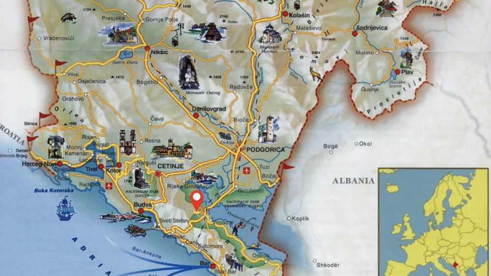 location of hoopoe glamping montenegro map