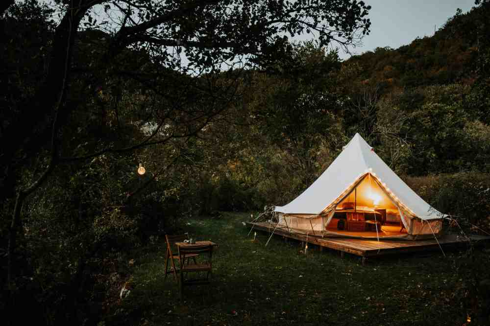 Unique places in Montenegro | Glamping tent near Skadar Lake