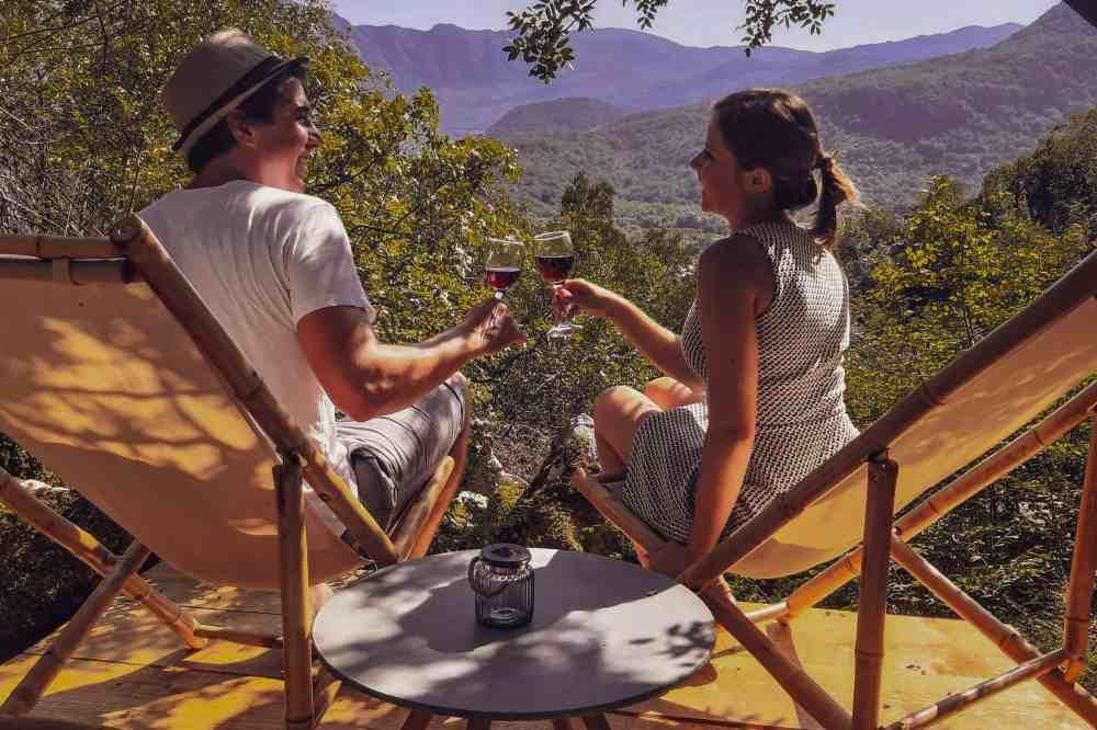 couple getaway honeymoon in Montenegro | wine tasting