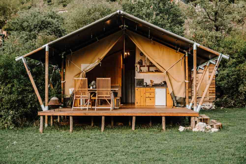 Unique accommodation in Montenegro in glamping tents near Skadar Lake