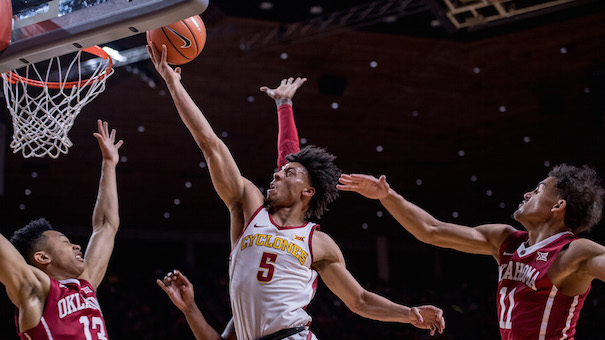 Over the next few weeks, Iowa State will get back four key players from last season, including star point guard Lindell Wigginton (#5). (Photo courtesy of Iowa State Athletics)