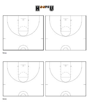 Basketball Court Diagrams | Printable Basketball Court ...