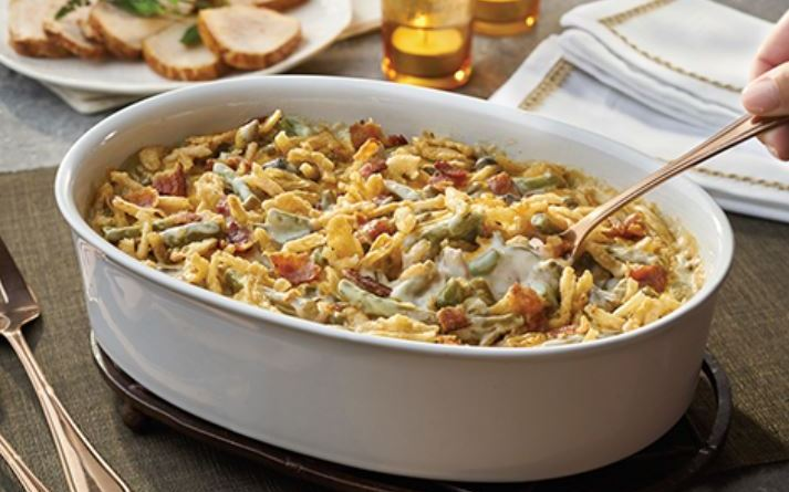 Bacon Cheddar Green Bean Casserole - Hooray for Moms