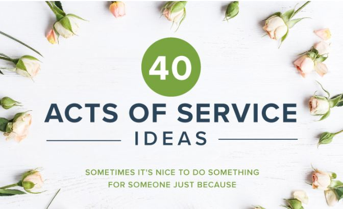 40 Acts of Service Ideas - Hooray for Moms