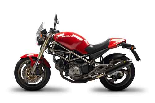 small resolution of the original 1994 ducati monster with its gold frame a little obscured in this photo