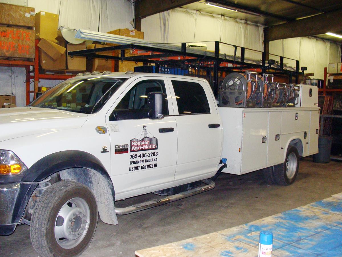 Hoosier Agri-Matic Service truck