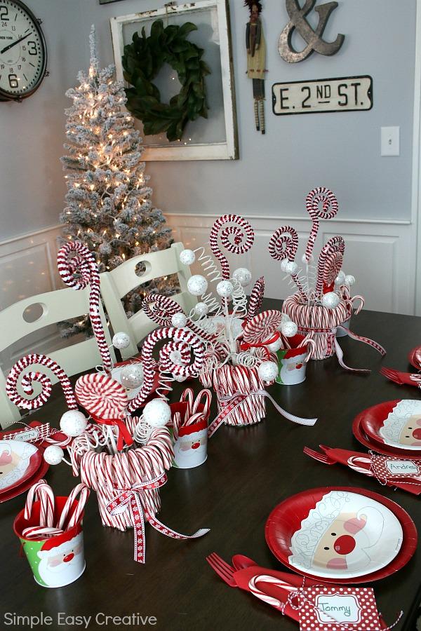 Christmas Table Centerpieces Hoosier Homemade