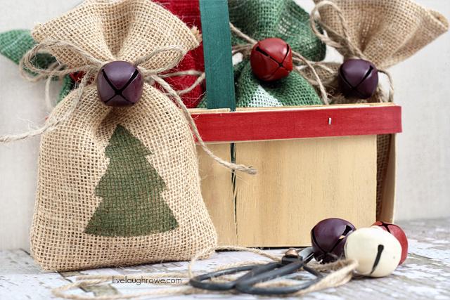 Burlap Gift Bags Homemade Holiday Inspiration Hoosier