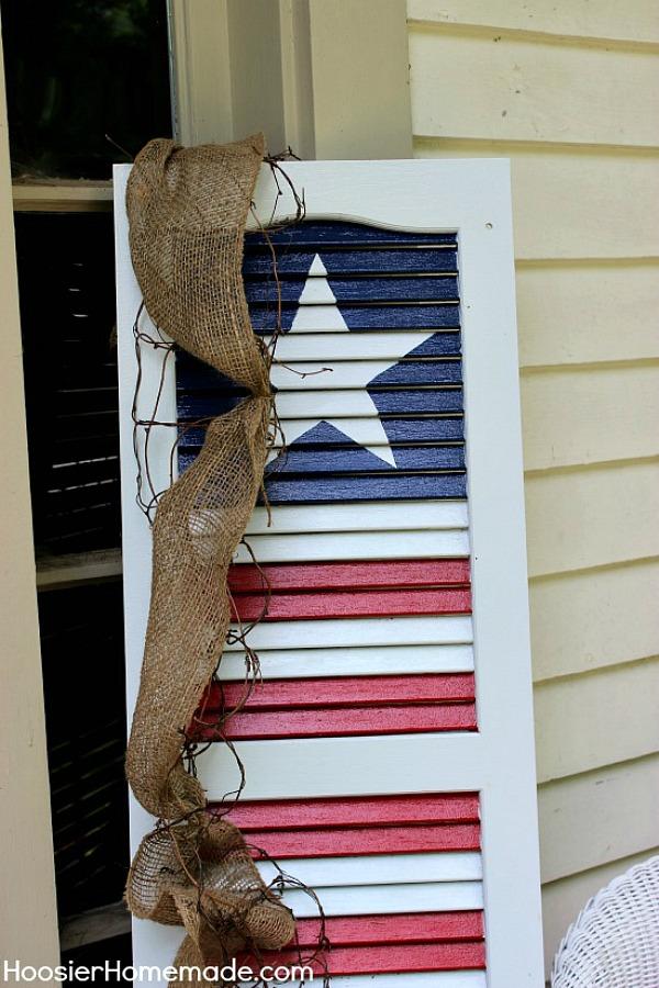 DIY Patriotic Shutter  Hoosier Homemade