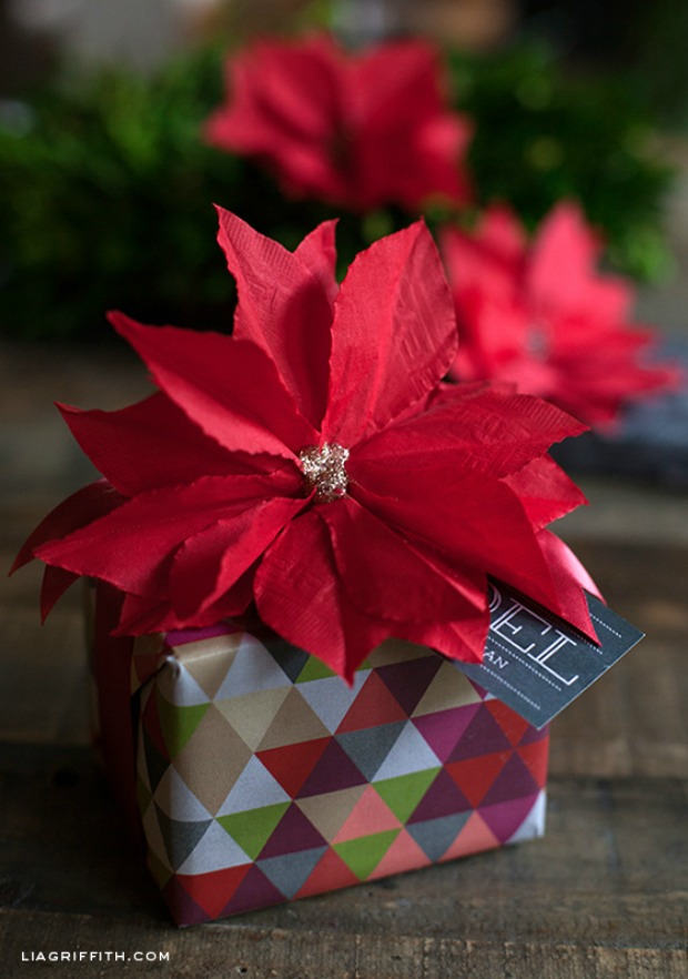 Paper Poinsettia Craft Homemade Holiday Inspiration