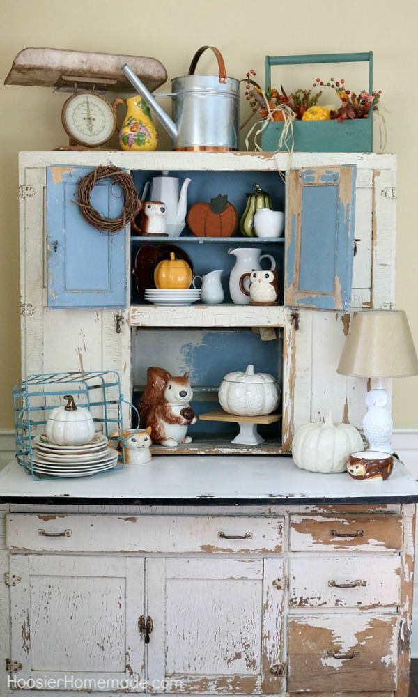 Fall Decorating Ideas Hoosier Cabinet Hoosier Homemade