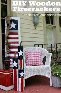 DIY Wooden Firecrackers: Summer Front Porch Decorating