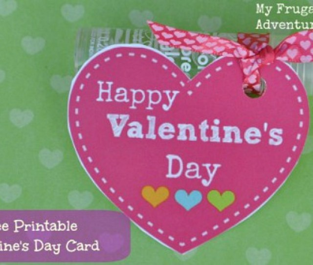 Candy Free Valentines Day Card