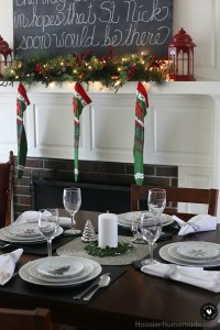 Simple Holiday Table Setting - Hoosier Homemade