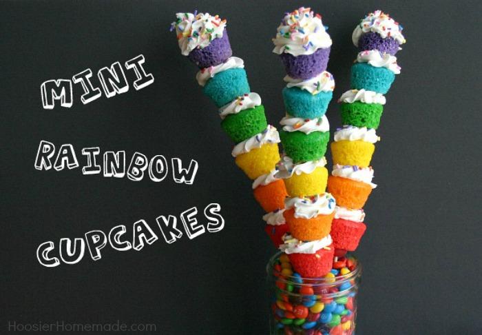 Mini Rainbow Cupcakes Hoosier Homemade