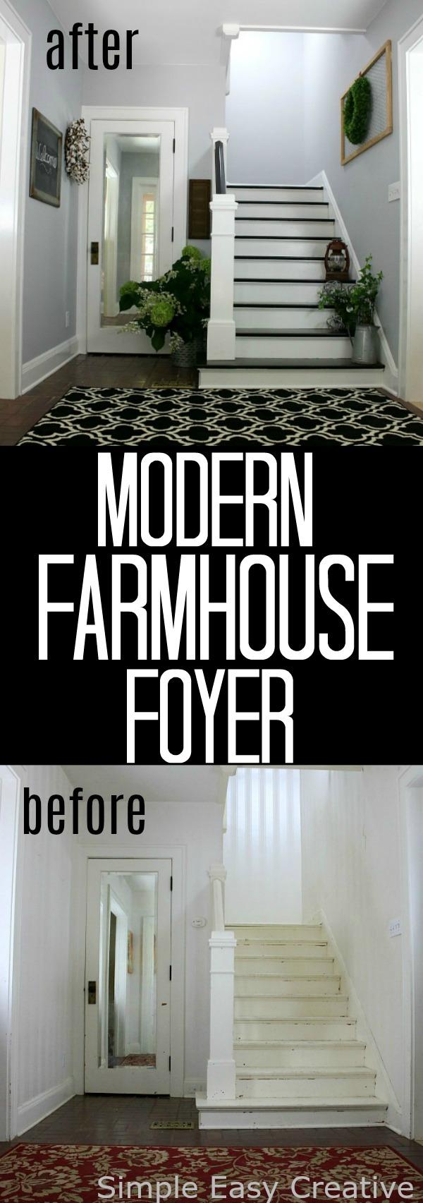 Modern Farmhouse Foyer Makeover Hoosier Homemade