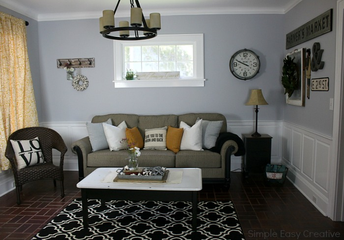 images of modern farmhouse living rooms leather sets room makeover hoosier homemade turn a boring into fabulous with