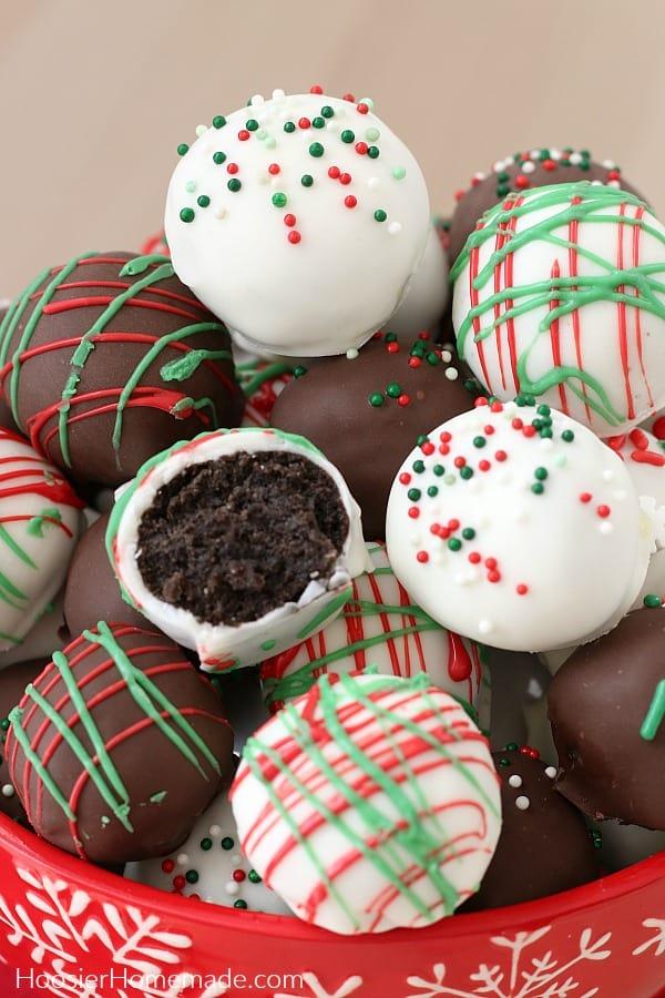 Oreo Balls For Christmas