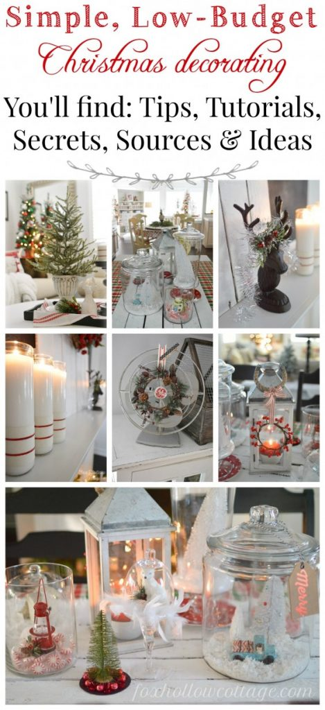 Low Cost Christmas Decorations  100 Days of Homemade Holiday Inpsiration  Hoosier Homemade