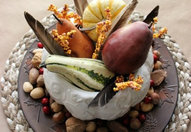 Homemade Thanksgiving Table Decorations