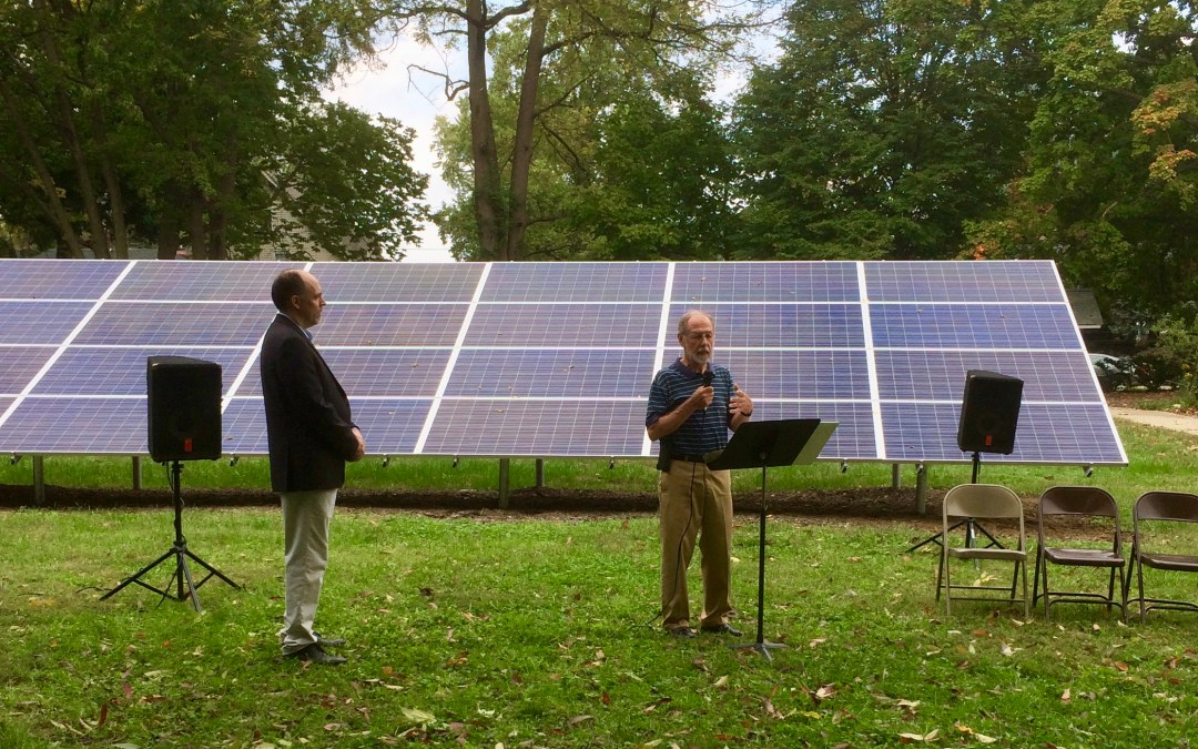 Unitarian Universalist Church of Indianapolis, Solar Dedication