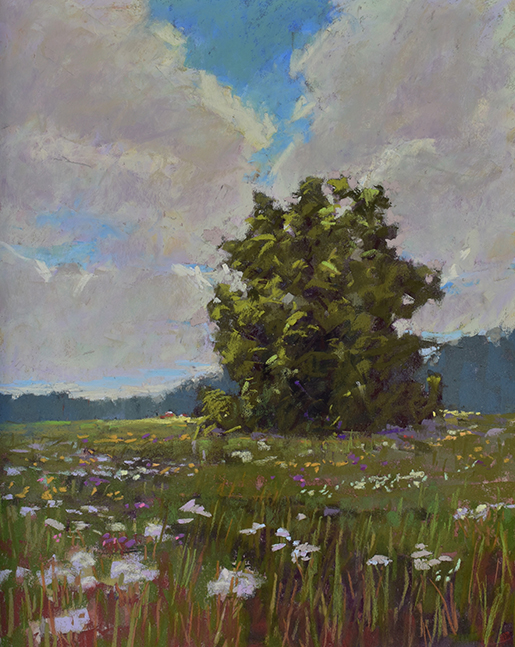 sky and land 20x16 pastel sized
