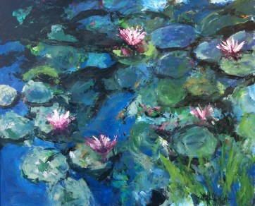 Water Lilies in Blue