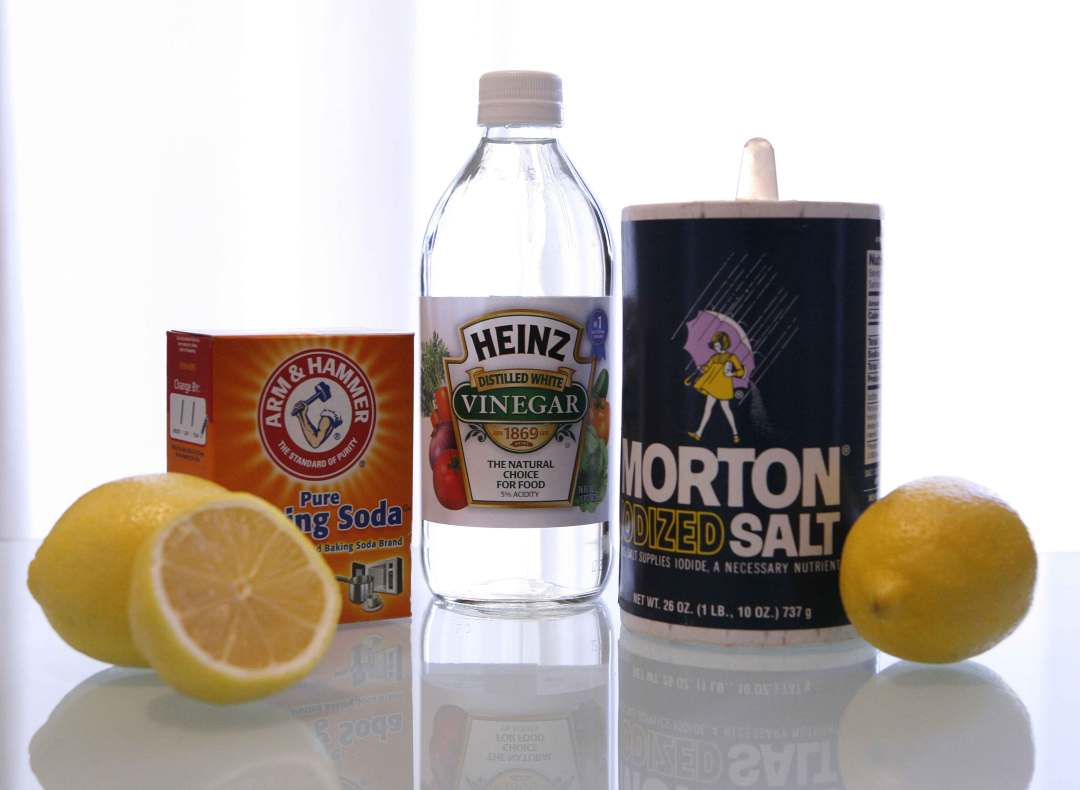 Safe, natural cleaning supplies from the kitchen.
