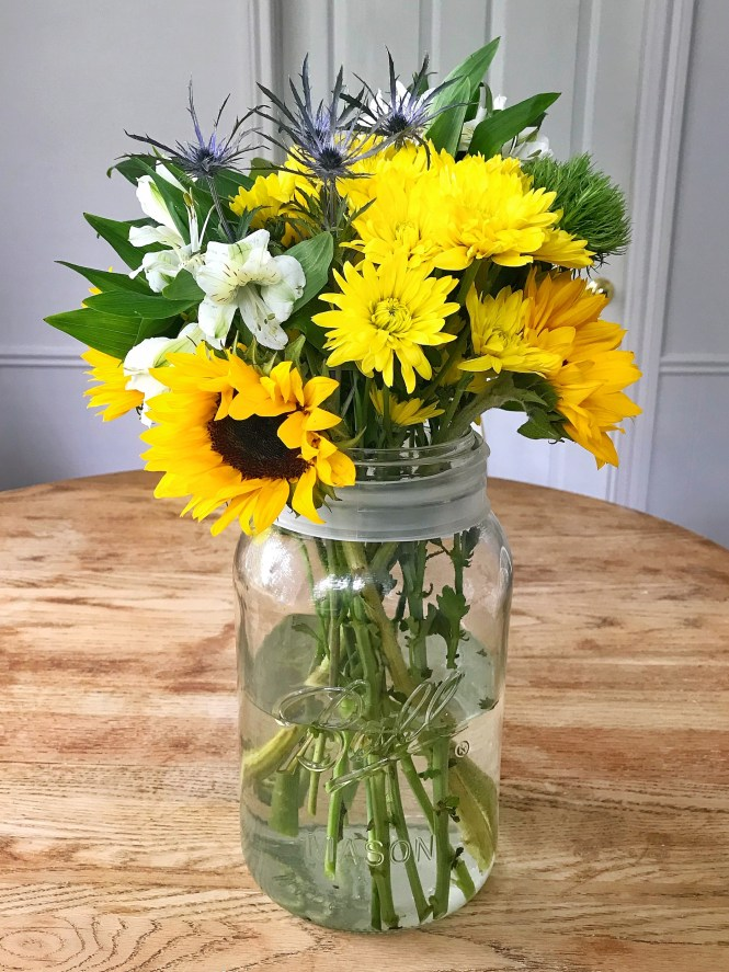 Mason Jar Fresh Summer Flowers