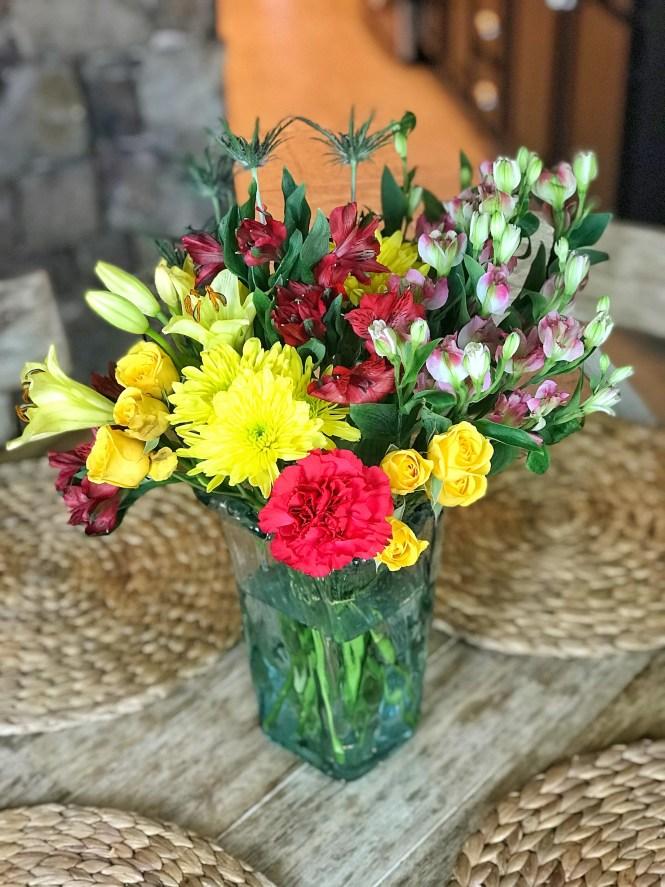 Fresh Summertime Flowers Centerpiece