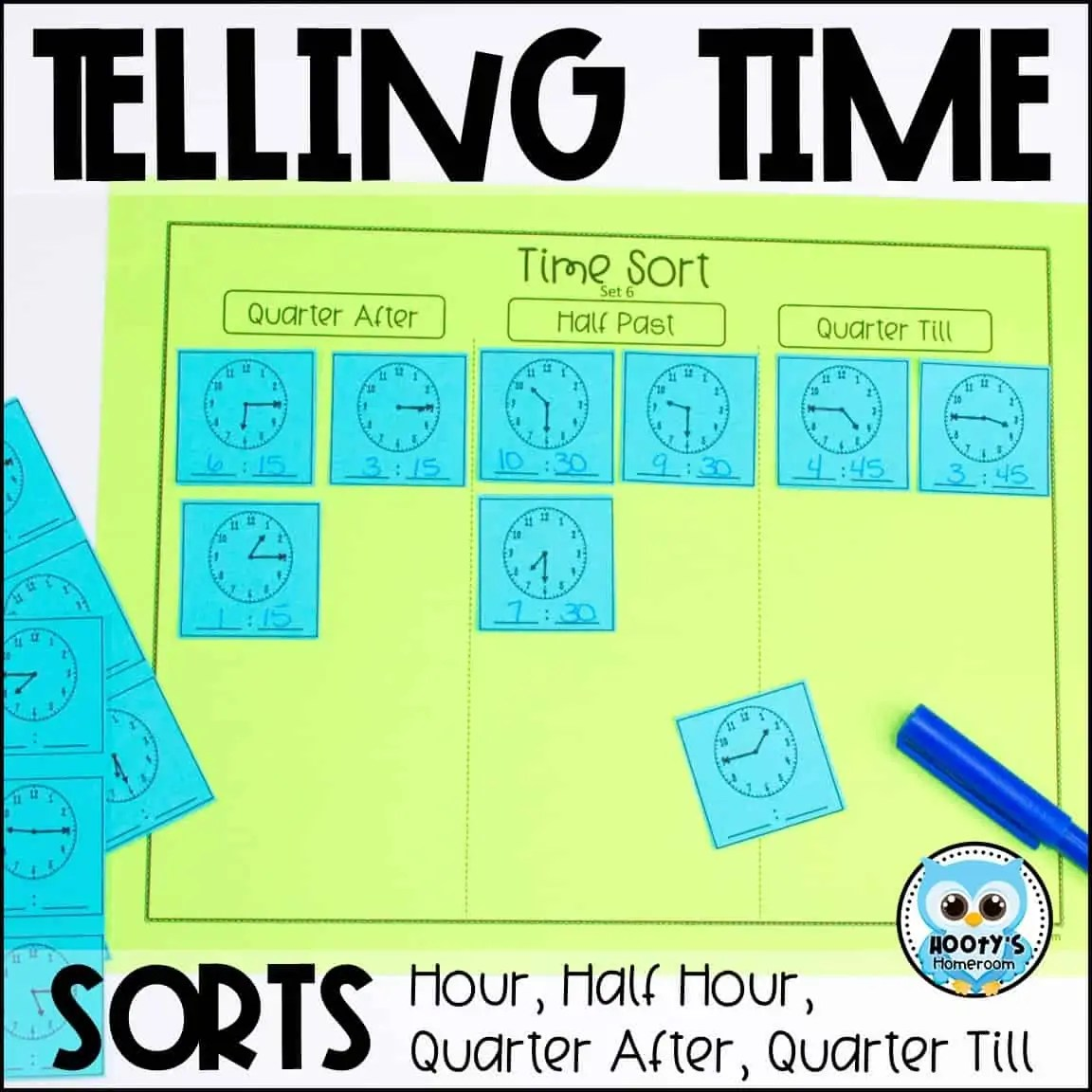 Telling Time Sorts