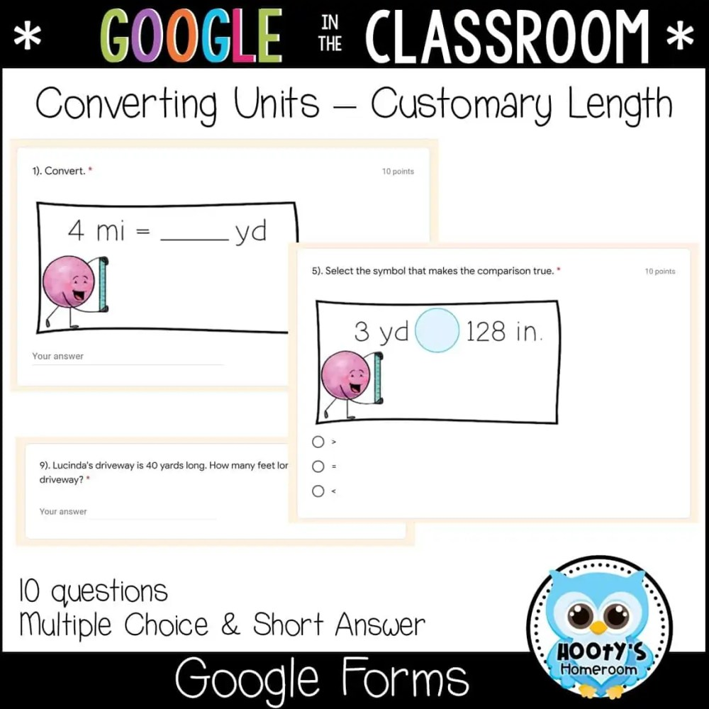 medium resolution of Measurement Conversions using Google Forms   Hooty's Homeroom