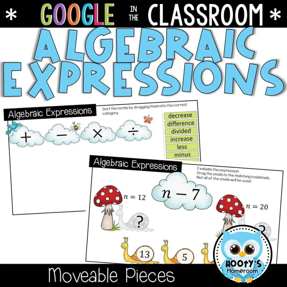medium resolution of Understanding Algebraic Expressions Using Google Slides