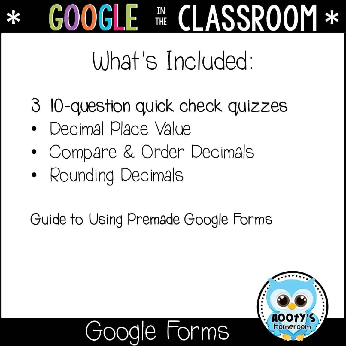 Decimal Place Value Using Forms