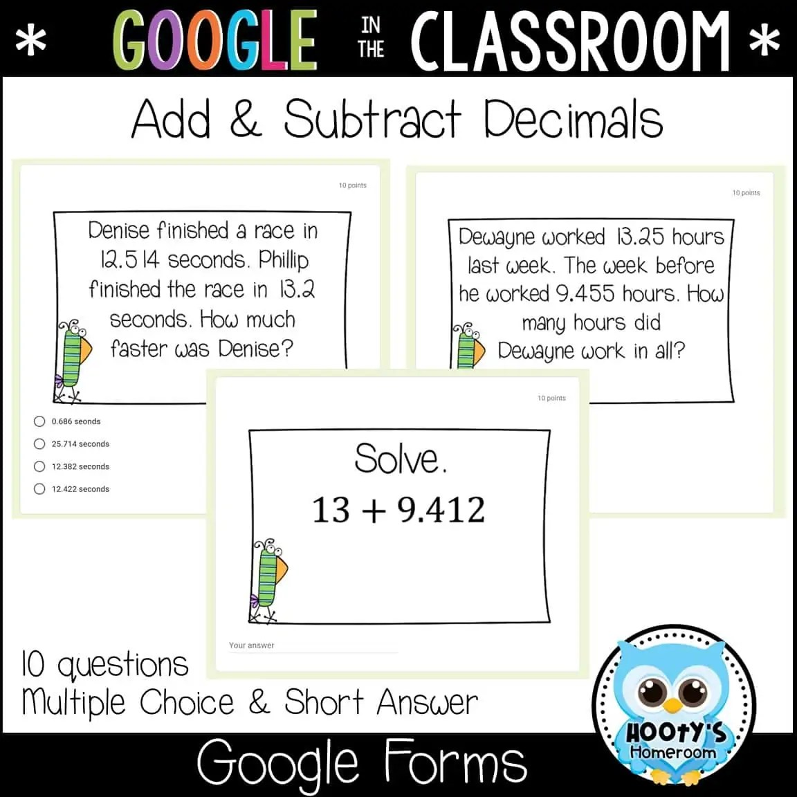 Adding And Subtracting Decimals Using Forms