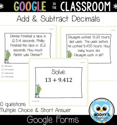 Adding and Subtracting Decimals Using Google Forms [ 1152 x 1152 Pixel ]