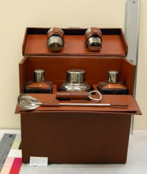 Herbert Hoover's martini set from the collections at the Hoover Presidential Library-Museum.