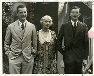 Herbert Jr., Lou Henry and Allan Hoover at their home in Washington, DC. 06/17/1928