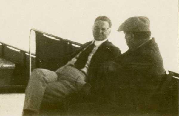 Secretary of Commerce Herbert Hoover with President Warren Harding on the 1923 Alaskan trip.